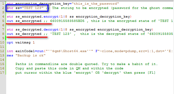 How to encrypt the password field in the command line