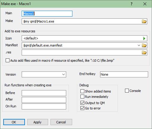 Quick Macros - Features